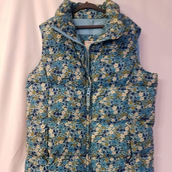 a63af9243d Lands' End Kids Floral Puffy Vest size 7 8